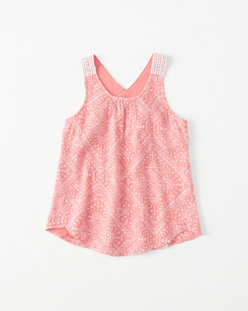 kids Crochet Cross-Back Tank