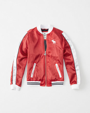 kids americana satin bomber jacket