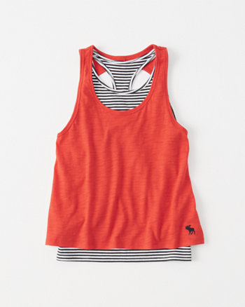 kids Twisted-Back Twofer Tank