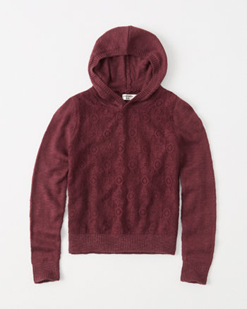 kids lace-front hoodie