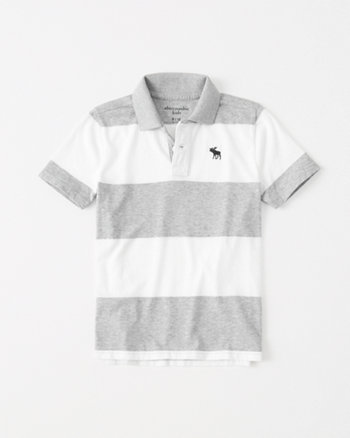 kids rugby stripe icon polo