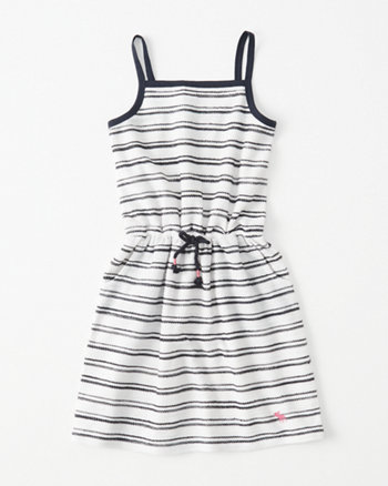 kids French Terry Drawstring Dress