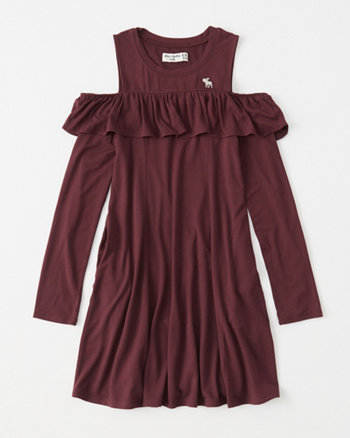kids cold-shoulder play dress