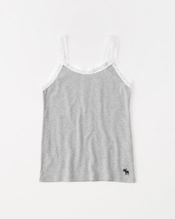 kids lace-trim tank