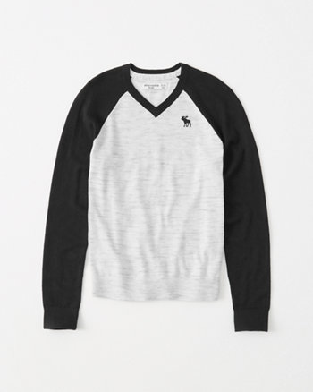 kids icon v-neck sweater