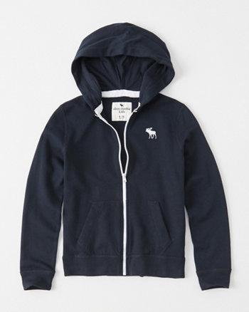 kids icon full-zip hoodie