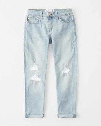 kids lace ripped girlfriend jeans