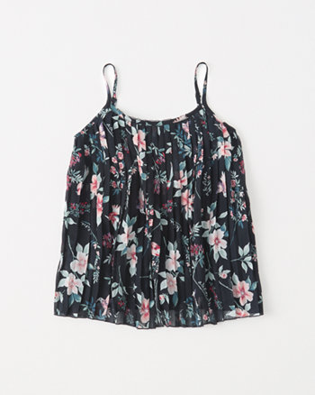 kids chiffon pleated cami