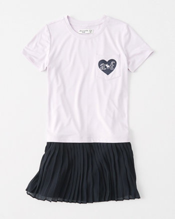 kids chiffon-hem t-shirt dress
