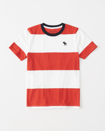 kids striped icon tee