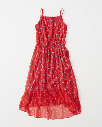 kids americana hi-low dress