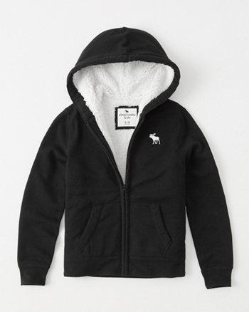 kids sherpa-lined icon hoodie