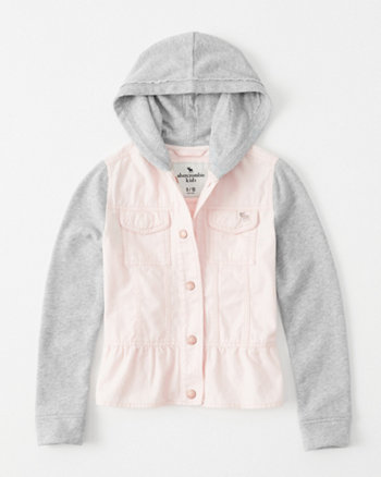 kids peplum twofer jacket