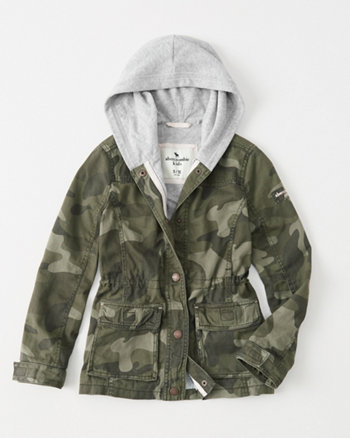 kids camo twofer jacket