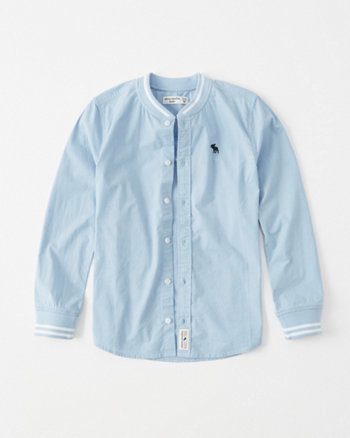 kids varsity icon button-up shirt