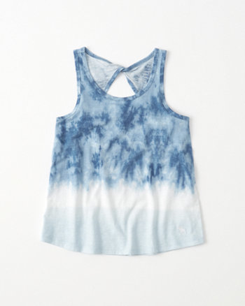 kids tie-dye twist-back tank