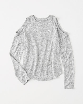 kids cozy cold-shoulder tee