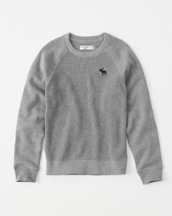 kids mixed fleece icon sweater