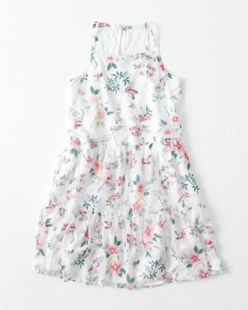 kids chiffon tiered dress