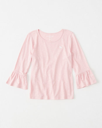 kids bell-sleeve icon tee