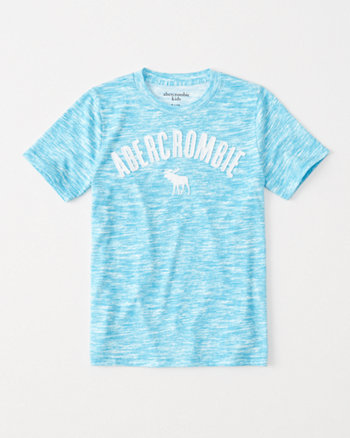 kids space-dye logo graphic tee