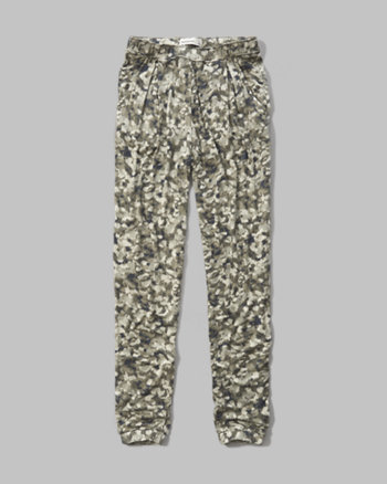kids patterned drapey pants