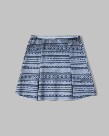 kids printed ponte skirt