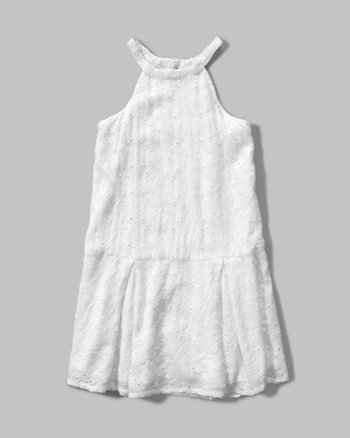 kids eyelet shift dress