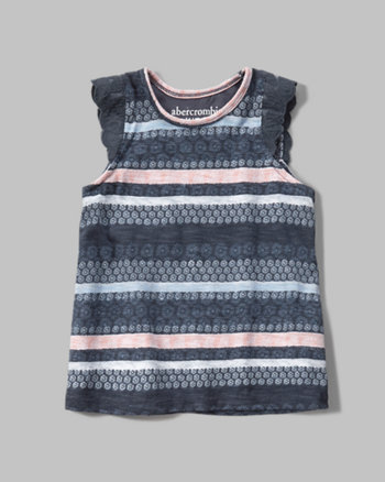 kids lace trim tank