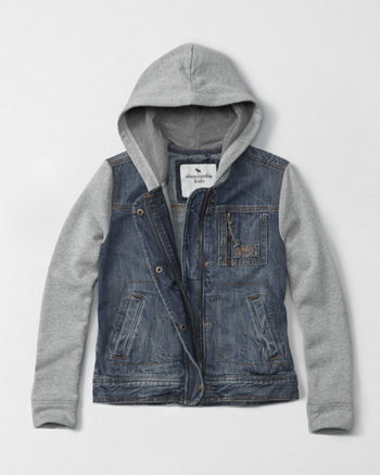 kids denim twofer jacket