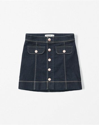 kids denim a-line skirt
