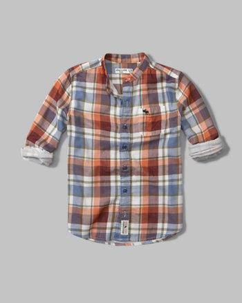 kids long sleeve plaid shirt