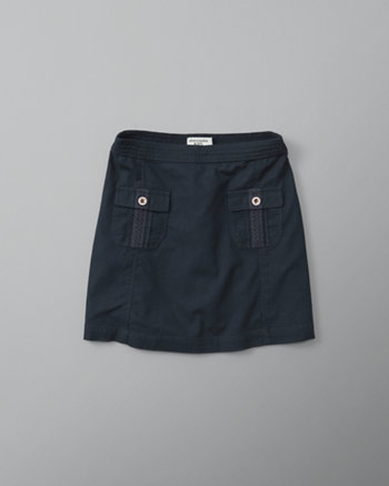 kids twill utility a-line skirt