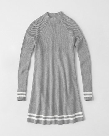 kids mock neck sweater dress