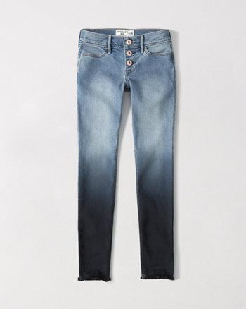 kids super skinny dip dye jeans