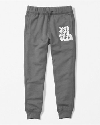 kids glow in the dark logo joggers